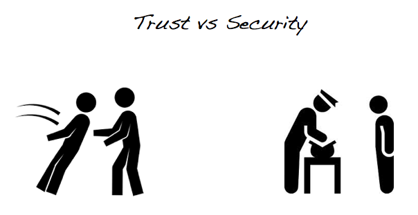 deleterious. mistaking one for the other, trust security, could (and generally does) have deleterious effects on trust.