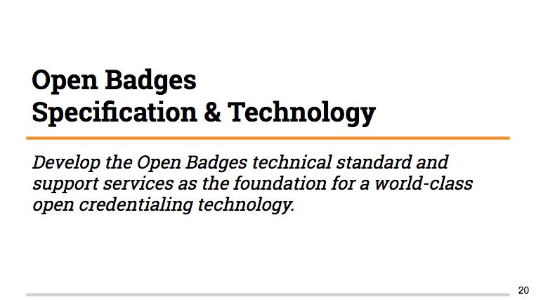 Are Open Badges about credentialing?